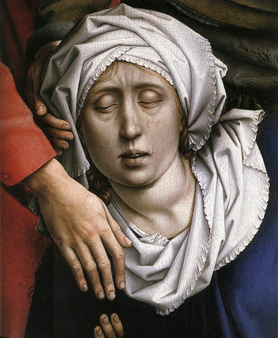 Rogier van der Weyden - Deposition (detail) - WGA25577