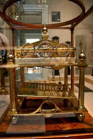 Congreve clock - A rolling ball clock from 1820 in the British Museum.