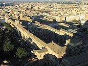 Blick auf Rom. Im Vordergrund die vatikanischen Museen