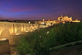 Roman Bridge, Guadalquivir river at night.jpg