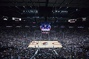 The Rose Garden Arena during a Blazers basketb...