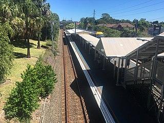 Roseville railway station, Sydney railway station in Sydney, New South Wales, Australia
