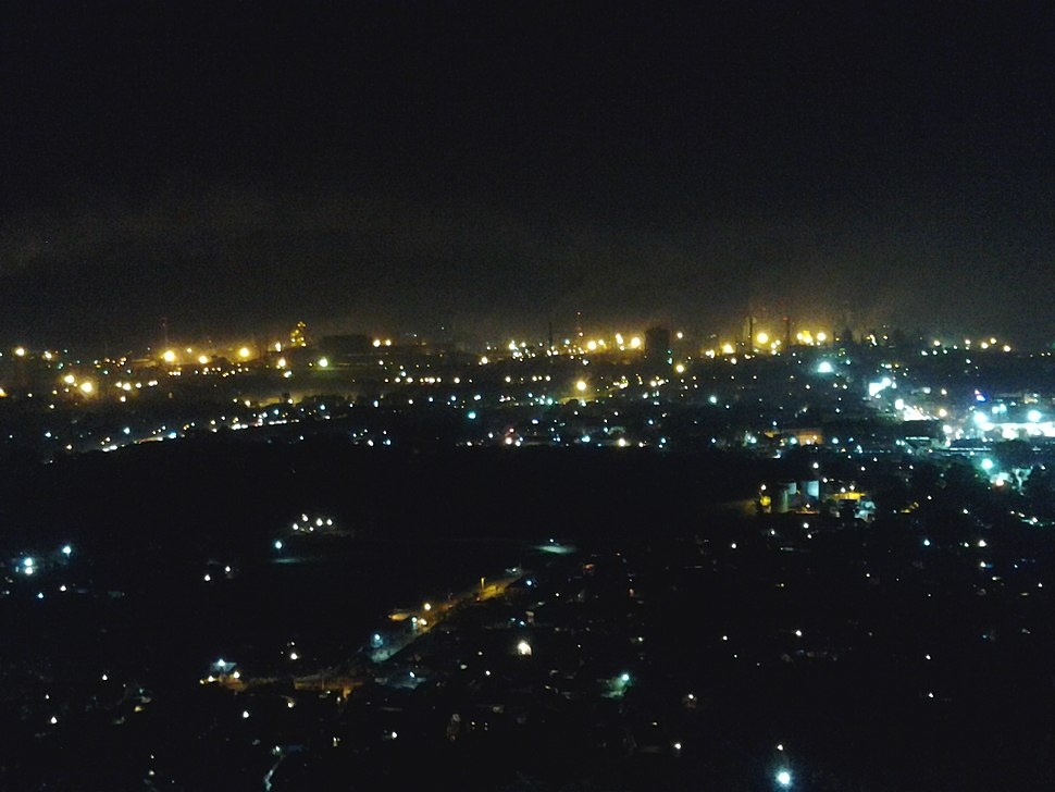 Rourkela at night seen from Vaishno Devi Temple