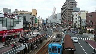 Japan National Route 206 road in Nagasaki prefecture, Japan