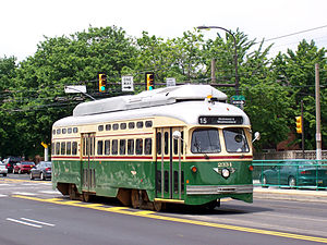 Girard Avenue - Girard Avenue Trolley, at 11th Street.
