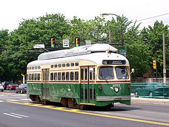 Girard Avenue - Girard Avenue Trolley, at 11th Street.