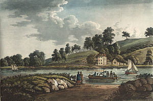 Hotwells - Crossing the Avon to Hotwells in 1797, by John Hassell