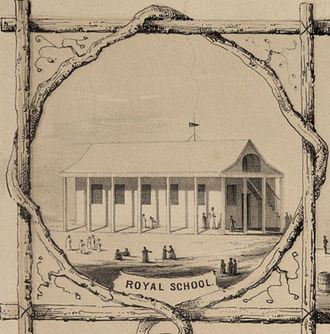 John William Pitt Kinau - The Royal School in 1853, lithographed by Paul Emmert