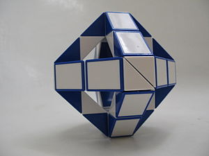 Octahedron - Two identically formed rubik's snakes can approximate an octahedron.