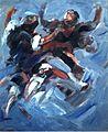 Ruizanglada - Jota en azules 61x50 Acrílico sobre tabla 1996..JPG