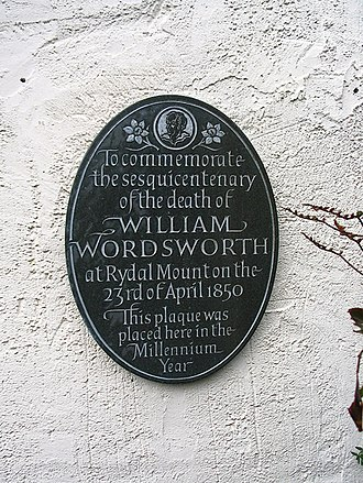 Letter cutting - The plaque for the William Wordsworth Sesquicentenary, Rydal Mount, Cumbria, by John Shaw