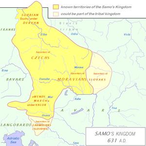 Carantania - Image: Sámova říše