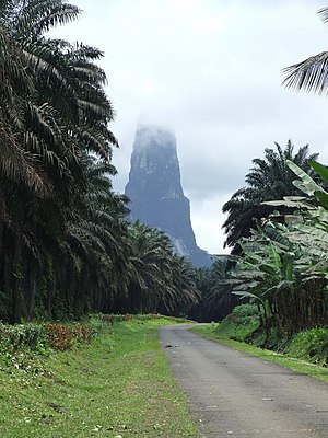 Geography of São Tomé and Príncipe - The awesome natural wonder -  Pico Cão Grande.