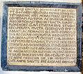S.m. maddalena de' pazzi, portico, targa 1458.JPG
