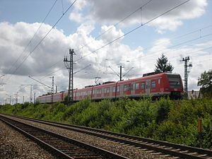 Munich–Rosenheim railway - S4 service between Trudering and Gronsdorf