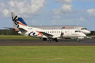 Ballina Byron Gateway Airport - Image: SAAB 340 VH ZRE