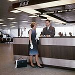SAS ticket office at Fornebu 1964.jpg