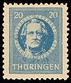 SBZ Thüringen 1945 98A Johann Wolfgang von Goethe.jpg