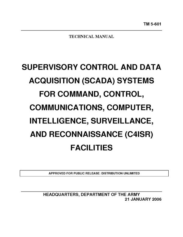 Data Acquisition And Control : Supervisory control and data acquisition scada systems