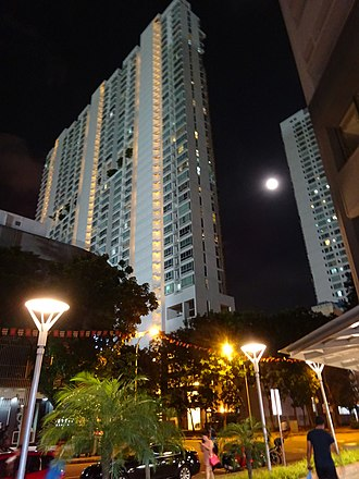 Lavender, Singapore - Image: SG Residential buildings apartments high rises Jun 2015 DSC Singapore night