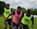 SM Caen vs UNFP, July 30th 2016 - Rodelin Ben Youssef Sané.jpg