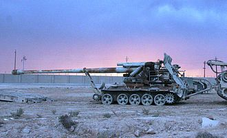 Koksan, one of North Korea's principal heavy artillery pieces. This example was captured in Iraq. SPG M-1978 KOKSAN.JPG