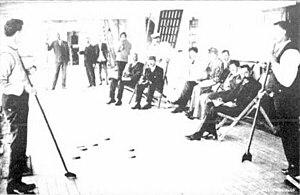 SS Koombana, deck billiards, 1909.jpg