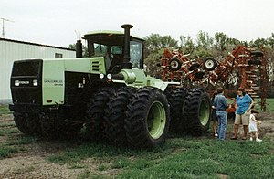 Steiger Tractor - A Steiger Panther tractor with tripled wheels