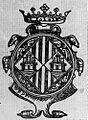 STEMMA DI CAGLIARI NELLA CORONA D'ARAGONA dal Libro dei privilegi concessi alla città, 1603.jpg