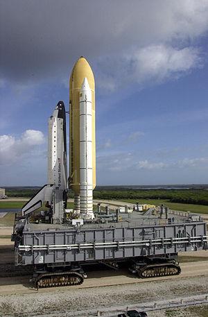 Mobile Launcher Platform 3 - Image: STS 110 rollout