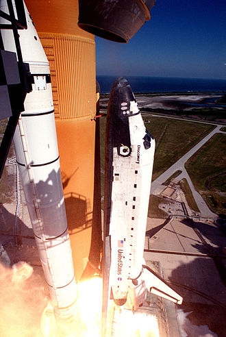 STS-95 - STS-95 launches from Kennedy Space Center, 29 October 1998