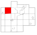 Saginaw County Michigan townships Richland highlighted.png