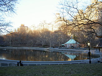 Conservatory Water - Conservatory Water during a winter sunset, facing east