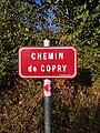 Saint-Just-d'Avray - Chemin de Copry - Plaque (sept 2018).jpg
