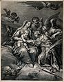 Saint Catherine of Alexandria. Engraving by de Poilly after Wellcome V0033435.jpg