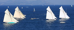 15-metre class - The four restored 15mRs in their first races together