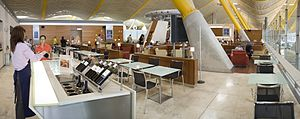 Airport lounge - An airport lounge in the Adolfo Suárez Madrid–Barajas Airport