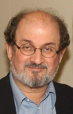 Salman Rushdie, the author of the novel The Satanic Verses