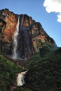 waterfall in Venezuela