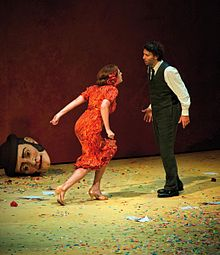Магдалена Кожена в роли Кармен с Йонасом Кауфманном, Зальцбургский фестиваль 2012