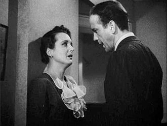 The Maltese Falcon (1941 film) - Spade confronts O'Shaughnessy.