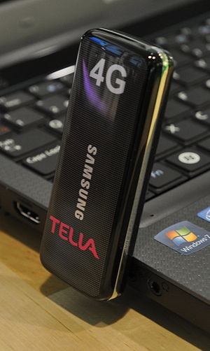 English: 4G LTE single mode modem by Samsung, ...