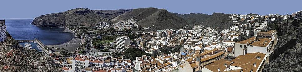 San Sebastián de la Gomera seen from the northwest