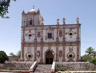 Misión San Ignacio Kadakaamán - The front facade of Misión San Ignacio