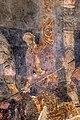 San lorenzo in insula, cripta di epifanio, affreschi di scuola benedettina, 824-842 ca., martirio di san lorenzo 06 carnefice.jpg