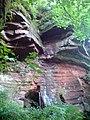 Sandstone Cave in Hayton Woods - geograph.org.uk - 486201.jpg