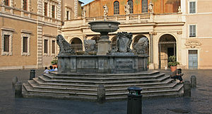Fountain at Piazza Santa Maria in Trastevere, ...