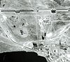 KH-7 satellite photo of two HEN HOUSE radars at the Balkhash Radar Station in 1967