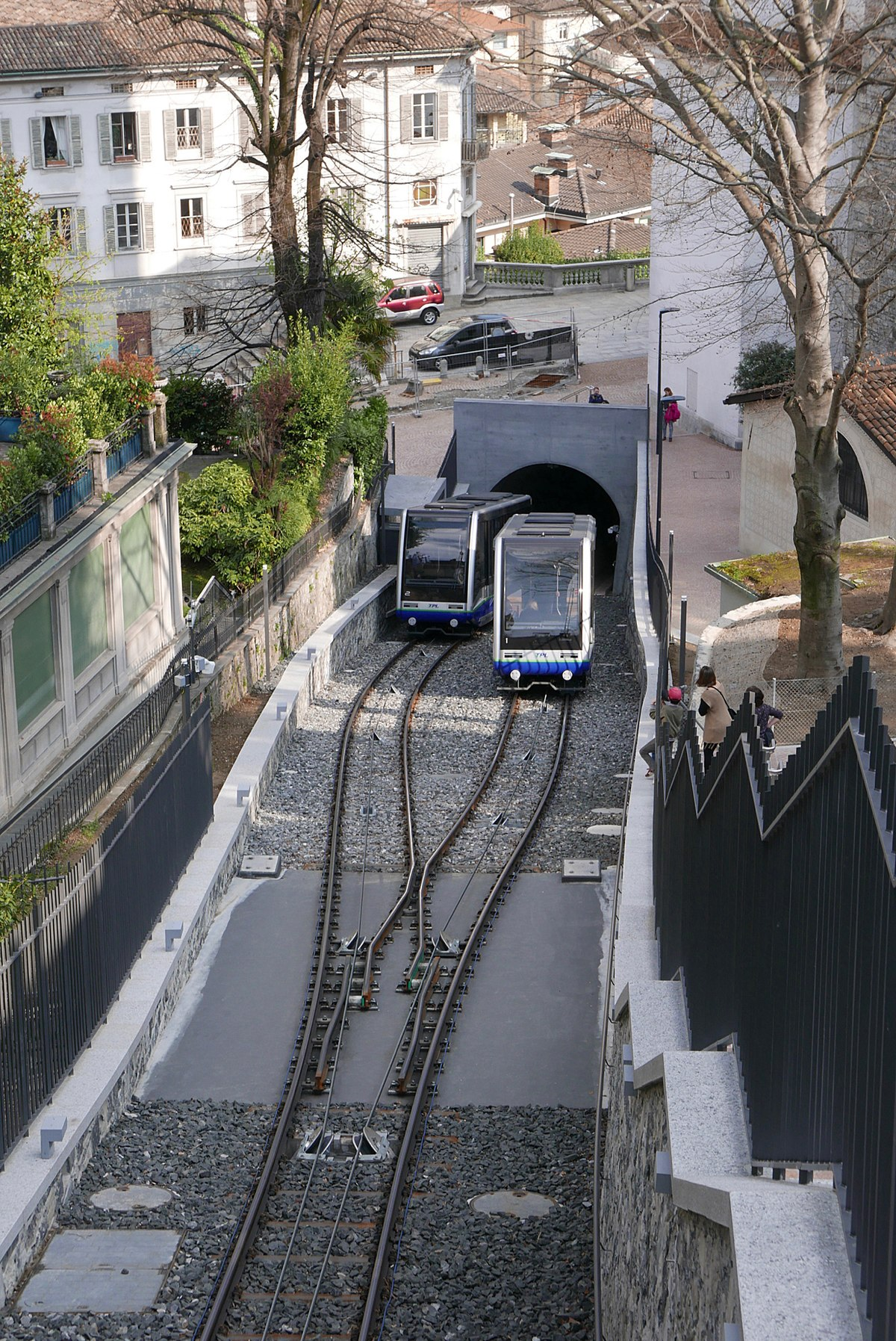Cars On Line >> Lugano Città–Stazione funicular - Wikipedia