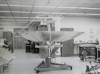 TRW Inc. - A satellite reflector being developed by TRW near Cleveland, Ohio (1968)